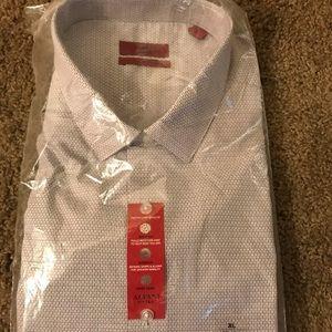 Dress Shirt (White/Tan Striped)